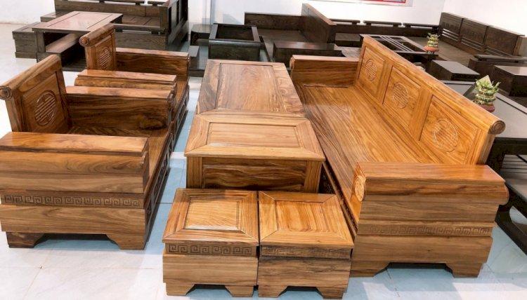 15 mẫu sofa gỗ đẹp và sang trọng 2021